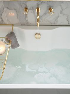 I can't even tell you how long I've wanted a freestanding bath for, to me they're pretty fancy - like the kind of bath you'd find in a posh hotel room and that's definitely what I was inspired by when I designed this bathroom - a luxurious hotel bathroom. Chanel Beauty, Bathroom Goals, Classy Aesthetic, Home Upgrades, Home Spa, Dream House Plans, Room Tour, Bathroom Interior Design, Freestanding Bath