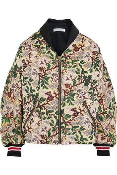 Philosophy di Lorenzo Serafini | Floral-jacquard bomber jacket | NET-A-PORTER.COM