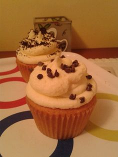Meringue forsted cupcake
