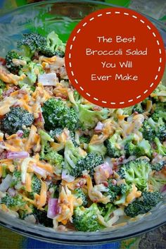 This Broccoli Salad recipe is a perfect addition to any meal. The dressing is delicious, and its very easy to make! This Broccoli Salad recipe is a perfect addition to any meal. The dressing is delicious, and its very easy to make! Salade Healthy, Healthy Salads, Healthy Camping Meals, Healthy Pasta Salad, Healthy Sides, Clean Eating, Healthy Eating, Cooking Recipes, Healthy Recipes