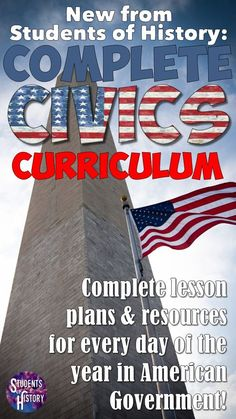 Units with lesson plans for ALL of American Government and Civics!