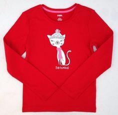 Gymboree Bah Humbug Kitty Girls Red Shimmer Shirt Sz 6 NWT #Gymboree #DressyEveryday