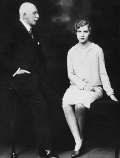 Princess Ingrid of Sweden, later Queen of Denmark with her grandfather Prince Arthur, Duke of Connaught and Strathearn