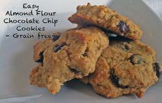 Easy homemade almond flour chocolate chip cookies grain free and gluten free Chocolate Chip Cookies