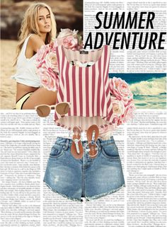 """""""summer"""" by dalychan ❤ liked on Polyvore"""