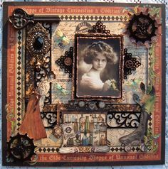 Olde Curiosity Shoppe ~ Awesome punch-work and fussy cutting on this beautifully detailed heritage page!