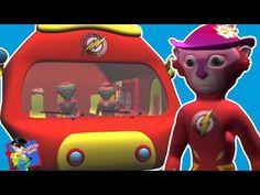 Wheels On The Bus | Flash | Nursery Rhymes For Kids | Cartoon Rhymes - YouTube