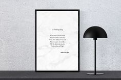 A Drinking Song - W.B. Yeats - Instant Download, Poetry Print, Wall Art
