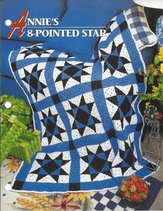 ✫ ✬ ✭ Padrão cobertor Afegão malha crochet itens decorativos Criações -  /  ✫ ✬ ✭ Pattern Afghan Blanket Crochet Knit Knacks Creations -