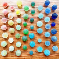 You'd think playing with sea glass marbles would get boring after a while but nope.