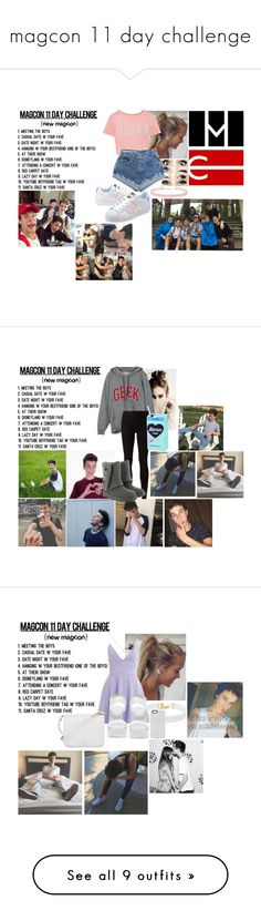"""""""magcon 11 day challenge"""" by jasmine-the-basic-penguin ❤ liked on Polyvore featuring adidas Originals, Miss Selfridge, Rick Owens Lilies, UGG, Vanessa Mooney, AX Paris, Nly Shoes, Furla, LuMee and Chicnova Fashion"""