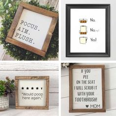 Some funny bathrooms signs to make you laugh. 😄  #BathroomInspo #BathroomSigns #18Ten