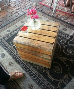 Wooden Crate idea - for table or seat