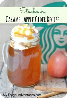 Super easy Starbucks Caramel Apple Cider recipe- make this yourself at home with just a few ingredients.
