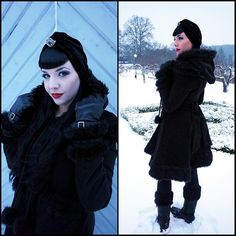 Lindsay Of Sheaves Winter Lookbook Outfit Number 2 Gothic Winter Coat Vintage