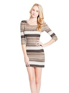 614bd8db4841 Vesper Long-Sleeve Sweater-Dress at Guess