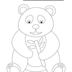 Giant Panda Try To Climb Tree Coloring Page