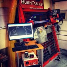 BurnTables Vertical Table with Tracer Technology