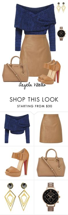 """Untitled #647"" by angela-vitello on Polyvore featuring Lipsy, Christian Louboutin, Michael Kors, Sarah Magid and Olivia Burton"