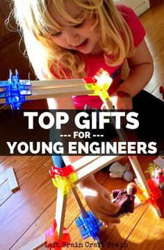 Need Christmas, holiday or birthday gifts for your aspiring, young engineers? This gift guide for kids ages 3-7 has the best toys and games for STEM skill fun.