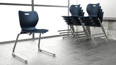 SmartLink Cantilever Student Chairs perfect for school environments! Learn more at our office furniture solutions including chairs, desks, workstations, filing and tables on hon.com #office #interiordesign #school