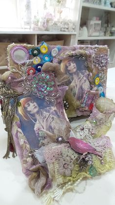 Gypsy style altered box /card altered boot/sushi roll created by msgardengrove1