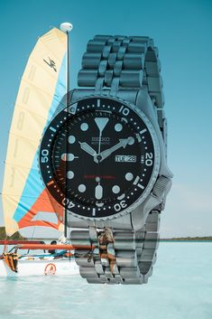 Best dive watch under $300 - Seiko SKX007 #seikodivewatch Automatic Watches For Men, 200m, Seiko, Rolex Watches, Diving, Fit, Accessories, Watches, Scuba Diving