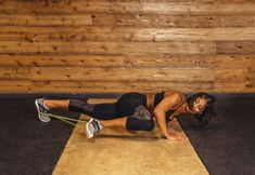 6. Spiderman Push-Up #greatist https://greatist.com/fitness/resistance-band-core-exercises-massy-arias