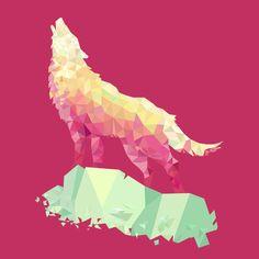 howling wolf. Triangimal: Wolf by Elepath.