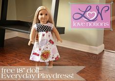 Little girls love it when they can match their dolls. Sew your little girl and her doll matching Everyday Play Dresses! Perfect for Easter, get a head start now!