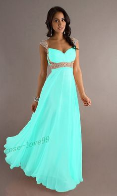 Stock Chiffon Straps Long Formal Ball Evening Party Bridesmaid Dress Size 6-16