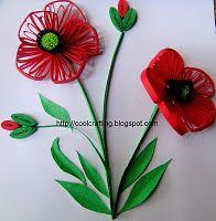 Beautiful poppy quilling