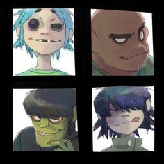 Idk who did the art but its awesome!  Gorillaz