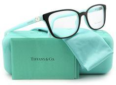 Tiffany & Co. TF2094 Eyeglasses Top Black/Blue (8055) TF 2094 8055 54mm Authentic