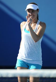 Switzerland's Martina Hingis gestures during a practice session ahead of the 2016 Australian Open tennis tournament in Melbourne on January 17 Australian Open Tennis, Wta Tennis, Tennis Tournaments, Tennis Players Female, Tennis Tips, Sport Girl, Melbourne, Basic Tank Top, January