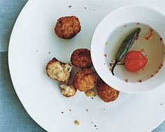 Cheddar Rice Fritters / Roland Bello