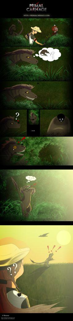 Primal Carnage by ArchShiranui on DeviantArt Dinosaur Games, Dinosaur Funny, Dinosaur Art, Prehistoric Creatures, Mythical Creatures, Primal Carnage, Spinosaurus, Jurassic Park World, Prehistory