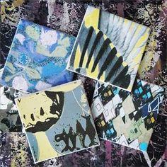 #tiletuesday Black Diamond, Goldfinch, Yellow & Grey Scale, Green & Purple Splodge and Anemones #tiles #ceramics #print #bathroom #design #interiordesign #homewares #interioraccessories #interiortextiles #printedtextiles #surfacepattern #pattern #patterndesign