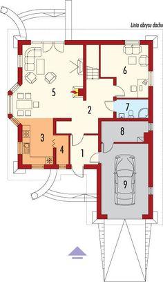 Rzut AC Radosław CE House Plans, Floor Plans, How To Plan, Top, Architecture, House Floor Plans, Crop Shirt, Floor Plan Drawing, Shirts
