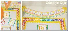 chevron classroom banner theme decor by Schoolgirl Style Chevron Classroom, Classroom Banner, Classroom Signs, Classroom Jobs, Classroom Setting, Preschool Classroom, Classroom Decor, Future Classroom, Rainbow Chevron