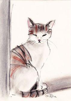 ARTFINDER: BELLA by EVA FIALKA - Original charcoal and pastel drawing.