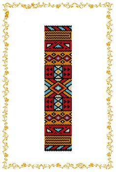 Схема бисероплетения браслета Геометрический орнамент от HoneyPear, $3.00