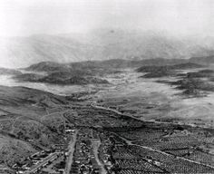 Los Angeles, 1850 - Downtown looking north along the LA River and Arroyo Seco through Highland Park