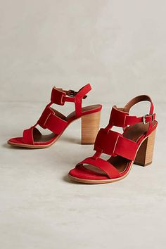Arricci Harmoni Heels - anthropologie.com.  If I needed red shoes, haha.