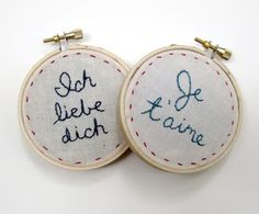Ich liebe dich Embroidery by naomicayne on Etsy
