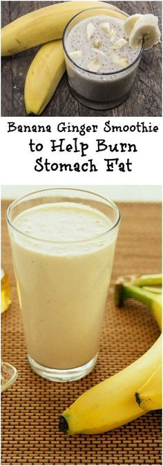 Banana and Ginger Smoothie for Weight Loss - Fit DB 1 ripe banana1 cup of blueberries (fresh or frozen)1 tablespoon grated ginger 2 tablespoons flaxseed ½ cup spinach Ice cubes