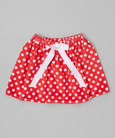 Look at this #zulilyfind! Red & White Dot Skirt - Infant & Toddler #zulilyfinds