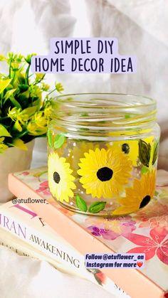 Diy Crafts For Home Decor, Diy Arts And Crafts, Bottle Art, Bottle Crafts, Art N Craft, Diy Canvas Art, Making Ideas, Diy Gifts, Instagram