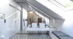 DOM JEDNORODZINNY / GLIWICE - Duża łazienka na poddaszu w domu jednorodzinnym z oknem, styl nowoczesny - zdjęcie od A2 STUDIO pracownia architektury