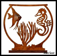 Free pattern - for those who can't manage pets! Scrollsaw Workshop: Tropical Fish Bowl Scroll Saw Pattern. Scroll Saw Patterns Free, Scroll Pattern, Wood Patterns, Pattern Art, Free Pattern, Wood Crafts, Diy And Crafts, Fret Saw, Wood Carving